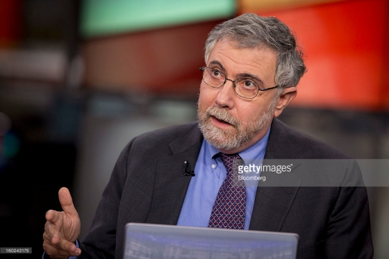 Paul Krugman, professor of international trade and economics at Princeton University and Nobel Prize-winning economist, speaks during an interview in New York, U.S., on Monday, Jan. 28, 2013. Photographer: Scott Eells/Bloomberg *** Local Caption *** Paul Krugman