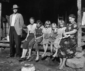 Small coal mining town in impoverished Appalachia, seven family members living in small shack.  (Photo by George Skadding/The LIFE Picture Collection/Getty Images)